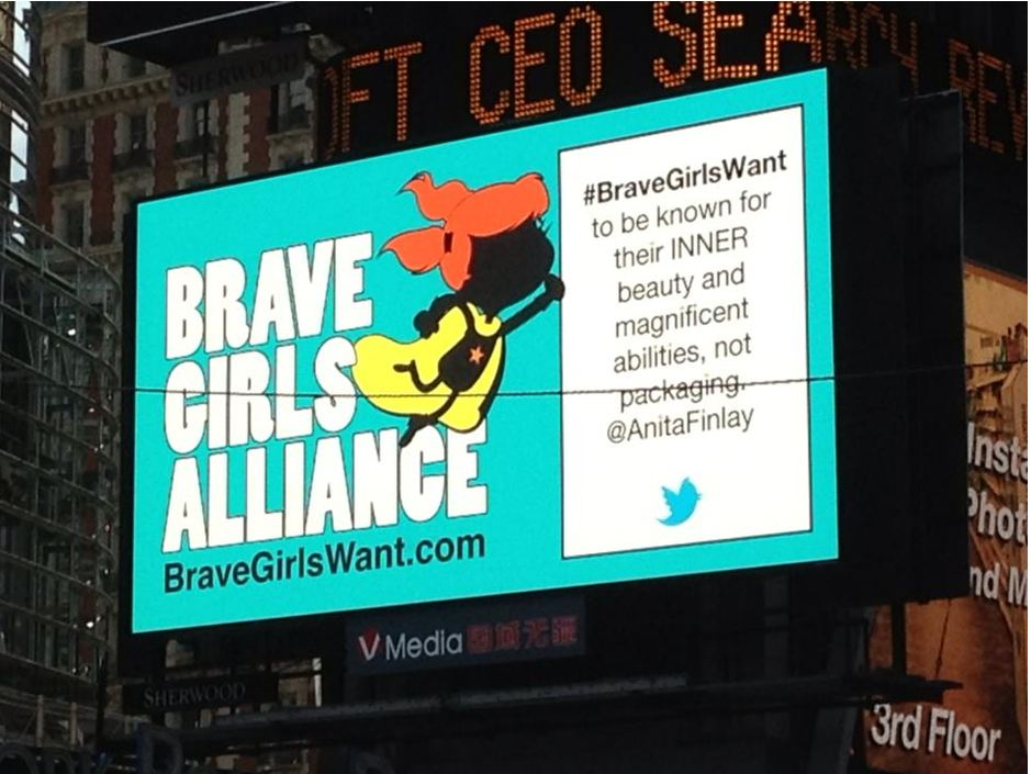 Anita on Brave Girls Want Campaign