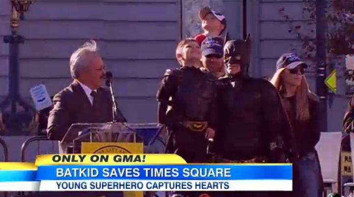 "Magnificent, Courageous ""Batkid"" Reminds of the Joys of Giving and Thanksgiving"