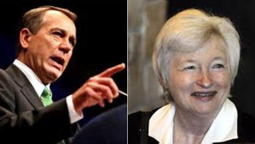 Speaker John Boehner and Janet Yellen