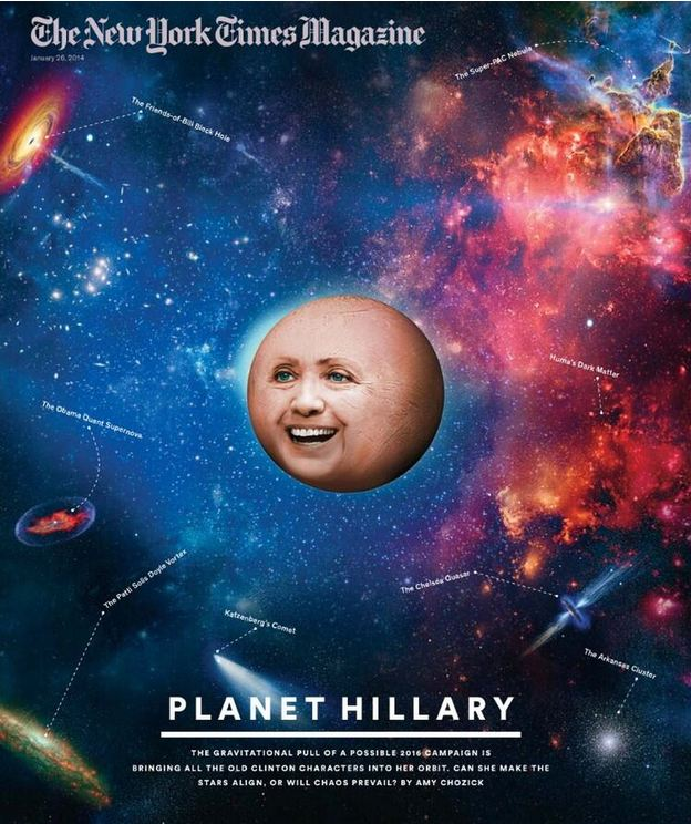The Rush to Define Hillary as a Space Alien or the 50-Foot Woman