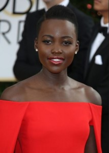 Lupita Nyong'o at the 71st Annual Golden Globe Awards, Photo: Hubert Boesl (Credit Image: Hubert Boesl/DPA/ZUMAPRESS.com)