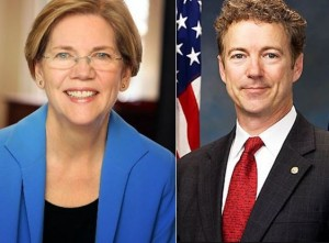 Senators Elizabeth Warren and Rand Paul
