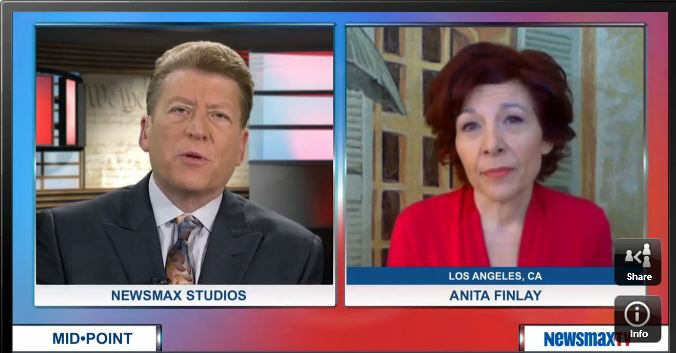 Anita Finlay with Ed Berliner on Newsmax TV 2 12 2015 -- click pic to watch interview