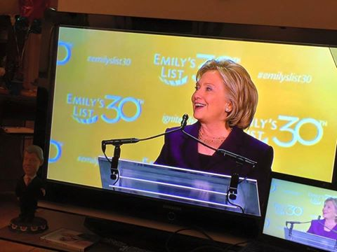 Hillary in Fine Form at Emily's List Gala