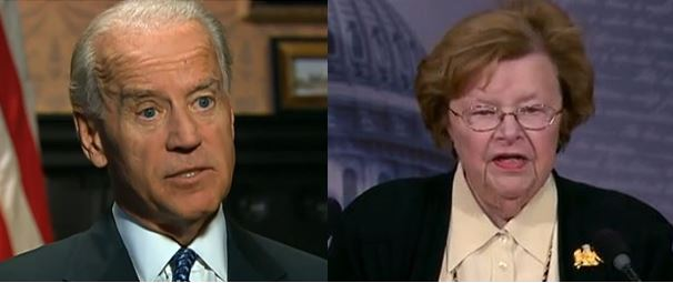 VP Biden/Sen Mikulski, live capture, video feed
