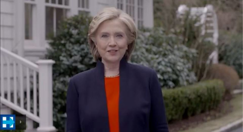 Hillary Clinton campaign video, live capture