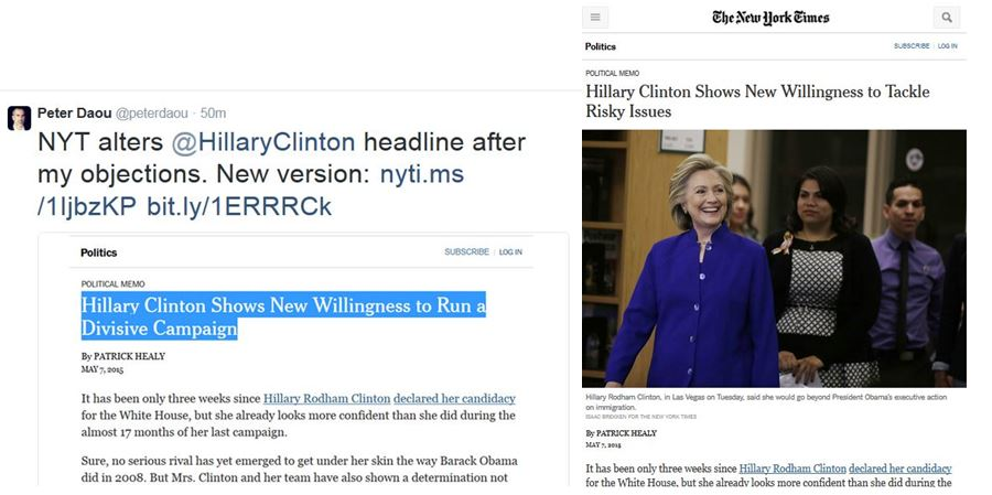 The New York Times' Vendetta Against Hillary Clinton