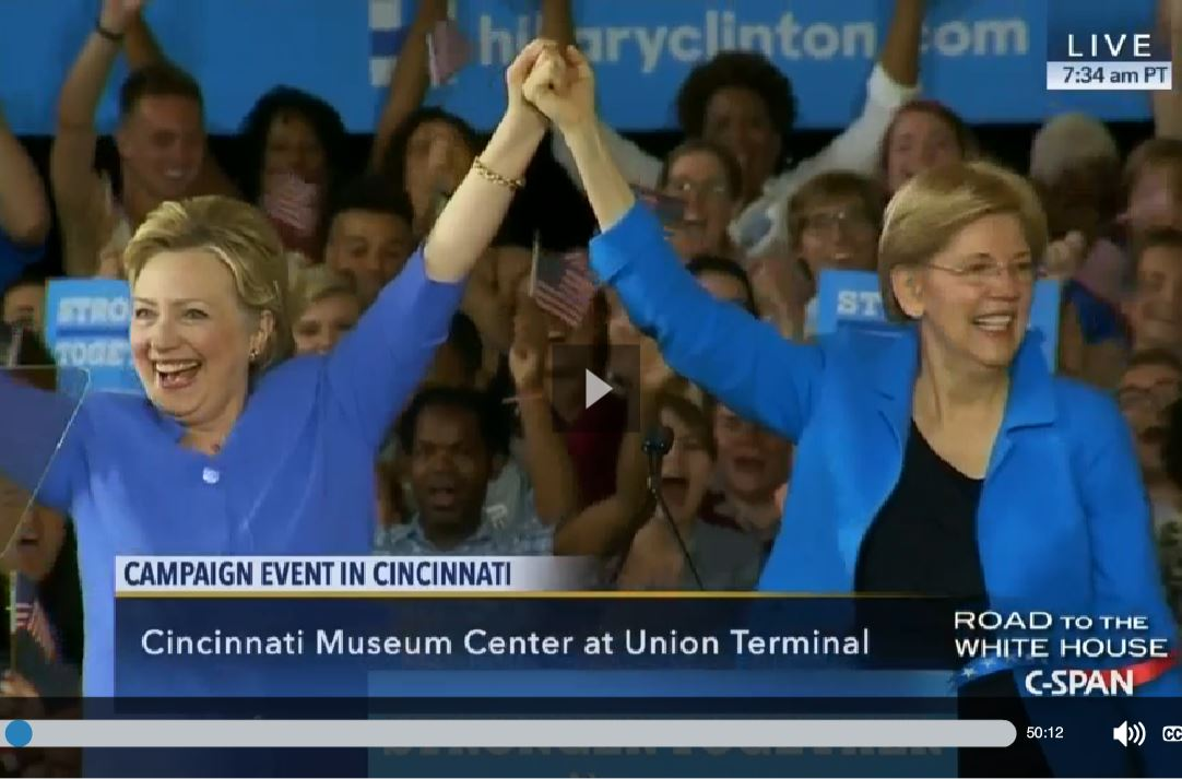 Elizabeth Warren's Passion for Hillary's Candidacy Renders Bernie Irrelevant