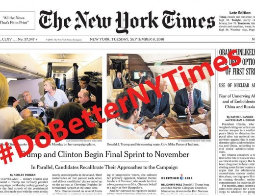 Shaming The New York Times' and Other Beltway Hacks Into Doing Their Jobs