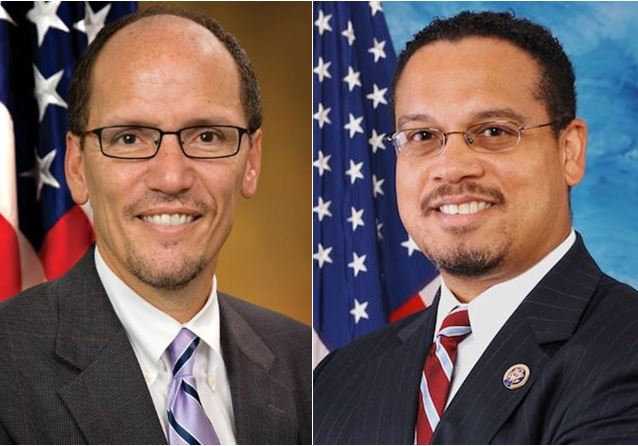 Tom Perez & Keith Ellison, Google, phots labels for re-use