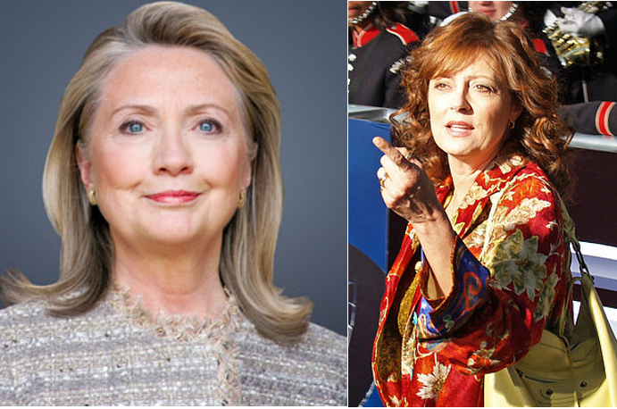 Hillary Clinton, Susan Sarandon, files labeled for reuse